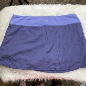 LULULEMON Blue Pleated Althletic Skirt w/ Shorts